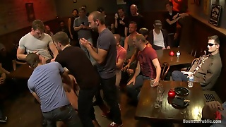 Domination, Hunks, Gay Blowjob, Humiliated In Public, Tied Hands, Crowd, Gay On Knees, Hd
