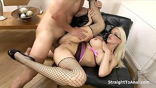 Stacy Silver Anal Fucked In Lingerie
