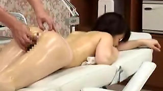 Shy Topless Japanese Schoolgirl Has Erotic Massage