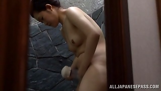 Japanese Milf Is Washed By Her Husband
