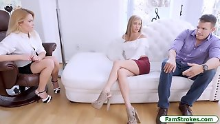 Teen, Milf, Blowjob, Hardcore, Oldyoung, Threesome, Bigcock, Facesits, Blonde