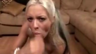 Tight Blonde Blowing And Facialised