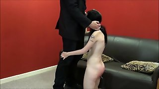Spanked Amateur Slaves Brutal Blowjob And Rough Whipping