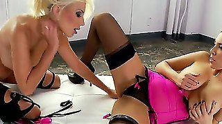 Jelena Jensen And Puma Swede Think Pink. These Two Really Get Down And Dirty As They Are Dressed Up In There Pink Lingerie, Black Stockings And High Heels. Hardcore Lesbian Scene With Lots Of Licking Fingering And Playing With Their Toy.