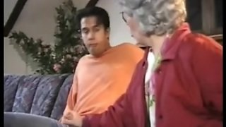 German Mature Granny Fucking Is Grandson
