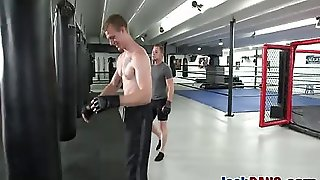 Sinful Lover Likes Riding Throbbing Cock In Gym