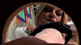 Tits, Ass Slimed At Gloryhole