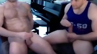 Mature And Younger Jerking Off