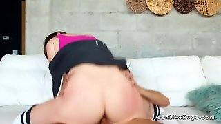 Redhead Teen Masturbates And Fucks