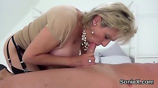 Cheating British Milf Lady Sonia Shows Her Monster Tits
