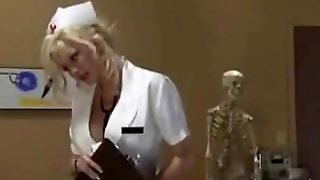 Blonde, Nurse Handjob, Handjob, Uniforms, Hospital Sex