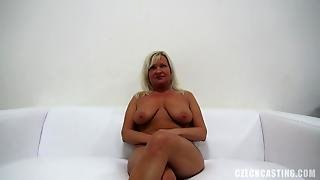 This Hard-Core Czech Casting Scene Features Sexy Blonde Amateur With Big Tits Eva Swallowing A Juicy Cock And Getting Her Hairy Pussy Pounded Hard.