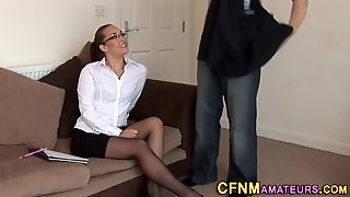 Cfnm Amateur Strokes Dick