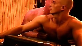 Skinhead Muscle Butt Caning.