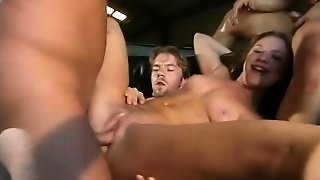 Aurora Snow Gets Every One Of Her Holes Filled With Schlongs