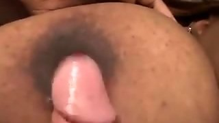 Ebony Babe With Plumber Boobs In Interracial Sex