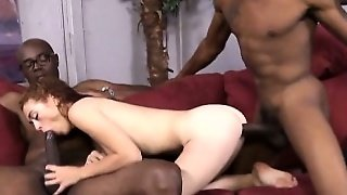 Alice Green Enjoyed By Two Black Dudes Getting Fucked