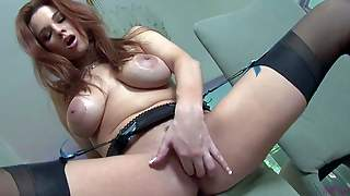 Sabrina Maree Is A Big Titted Seductress In Black Nylon