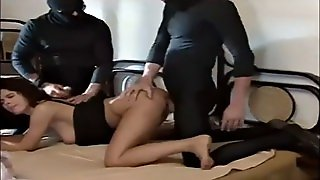 Rough Orgy With Danish Milf