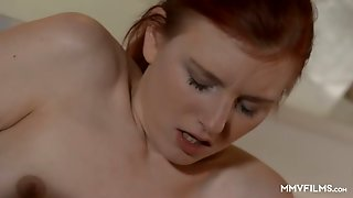 Tight Inviting Pussy Of Charming Girl Snow Gill Gets Poked On The Floor