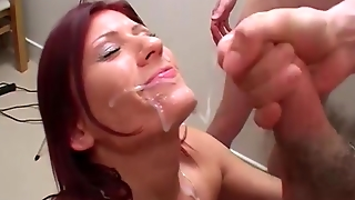 Blowjobs, Facials And Bukkake Party Cumshots For Anastasia