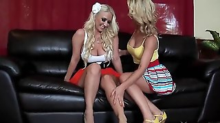 Blonde Absolutely Perverted And Tremendously Beautiful Slut Molly Cavalli Is Having Fun With Her New Friend, Sexy Lesbian Cherie Deville. Check It Out And Enjoy The Show!