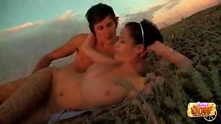 Teen Fucked Outdoors As Sun Sets