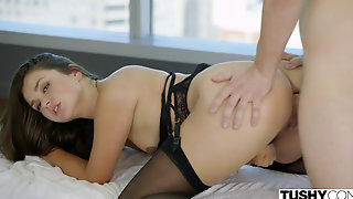 Allie Haze- Anal In Black Lingerie