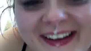 Welsh Girl Spits Out Cum