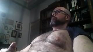 Hairy Daddy Jerks Off & Cums