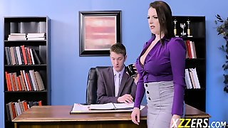 Angela White In Horny Secretary Fucking