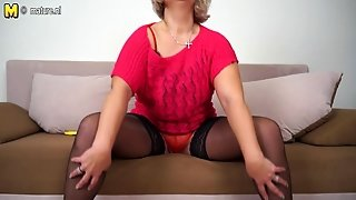 Hot Grandma Still Loves To Play With Her Old Twat