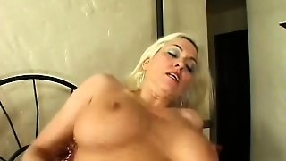 Busty Blonde Milf Cara Has A Wet Peach Yearning For A Young Stud's Cock