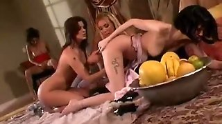Lesbians In This Orgy Are Smoking Hot