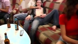 Spectacular Group Sex At Students Party