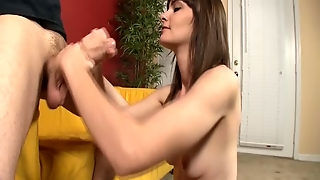 Naughty Teen Jerks Off Not Her Step-Brother
