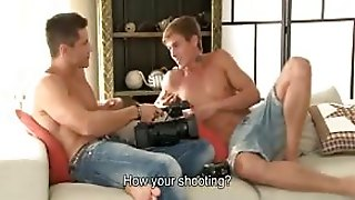 Sexy Jock And Blonde Stud Make Sex Tape