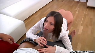 Amazingly Lovely Starlet Enjoys Her First Anal Audition