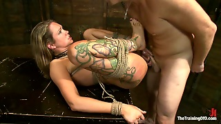 Very Sexy Blonde Experiments With Bdsm