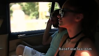 Female Fake Taxi Driver Bangs On Camera
