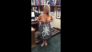 Amateur Suzie Flashing Tits At Work 001