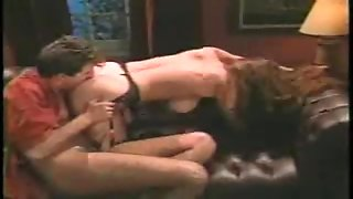 Sexy Brunette Playing With A Stranger's Cock
