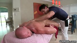 Hot Oiled Massage For Tattooed Guy