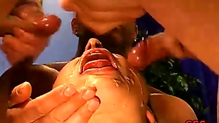 Cocks In Her Mouth And Ass!