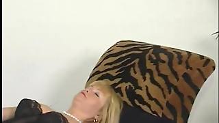 Masturbating, Tube8 Com, Blonde, Hairy, Solo, Lingerie, Orgasm, European, Dildo, Nylons, Mature