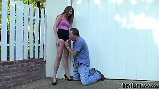 Hot Girl Fucks A Guy In His Face With Strapon Dildo
