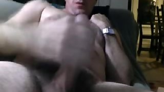 Daddy Cums On Sofa