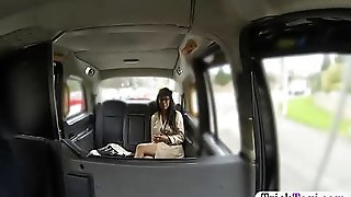 Huge Tits Ghetto Passenger Babe Gets Railed In The Taxi Having Her Couchie Filled With Meat