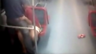 Amateurs Caught Fucking In A Public Train