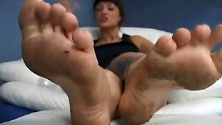 Pov Foot Fetish Femdom With Dirty Feet
